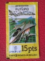 RARE ANTIGUO SOBRE DE CROMOS SIN ABRIR CERRADO PACKAGE PACKET OF COLLECTIBLE CARDS SPAIN AVIACIÓN AVIATION PLANE AIR.... - Documentos Antiguos