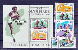 Togo  867/869 PA 280/282 BF 94 Montreal 76 Neuf **TB  Mnh - Togo (1960-...)