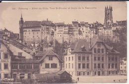Fribourg- Hotel De Ville, Tour St Nicolas Et Ecole De La Neuville - FR Fribourg