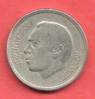 50 Santimat , MAROC , Cupro-Nickel , AH 1394 , 1974 , N° Y # 62 - Maroc