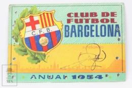 Football Club Barcelona Season Membership Pass 1954 - Camp Nou - Match Tickets