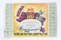 Football Club Barcelona Season Membership Pass 1957 - Camp Nou - Match Tickets