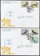 2001-FDC-60 CUBA FDC 2001. REGISTERED COVER TO SPAIN. IV CONGRESO ASOC COLOMBOFILA, PIGEON, PALOMAS. - FDC