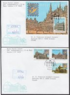 2001-FDC-61 CUBA FDC 2001. REGISTERED COVER TO SPAIN. PHILATELIC EXPO BELGIUM. - FDC