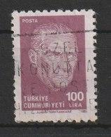 MiNr. 2734  Türkei 1985, 18. Dez. Freimarken: Atatürk. - 1921-... Republik