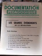 Documentation Pedagogique 8 Fiches Les Grands Evenements De La Revolution - Histoire