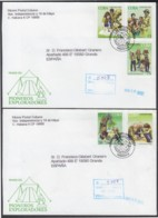 2002-FDC-39 CUBA FDC 2002. REGISTERED COVER TO SPAIN. PIONEROS EXPLORADORES, BOYS SCOUTS. - FDC