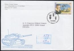 2002-FDC-43 CUBA FDC 2002. REGISTERED COVER TO SPAIN. III ENCUENTRO CORRESPONSALES DE GUERRA, WAR JOURNALIST. - FDC