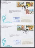2002-FDC-47 CUBA FDC 2002. REGISTERED COVER TO SPAIN. CENT NACIMIENTO JUAN TOMAS ROIG, TOBACCO, TABACO, SCIENCE. - FDC