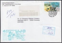 2002-FDC-49 CUBA FDC 2002. REGISTERED COVER TO SPAIN. 40 ANIV UJC, ERNESTO CHE GUEVARA. - FDC