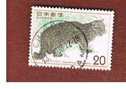 GIAPPONE  (JAPAN) - SG 1348  -   1974 ANIMALS: IRIOMOTE CAT - USED° - 1926-89 Imperatore Hirohito (Periodo Showa)