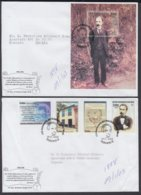2003-FDC-44 CUBA FDC 2003. REGISTERED COVER TO SPAIN. HF 150 ANIV NACIMIENTO DE JOSE MARTI, INDEPENDENCE WAR. - FDC
