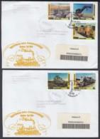2003-FDC-45 CUBA FDC 2003. REGISTERED COVER TO SPAIN. HISTORIA DEL FERROCARRIL, RAILRAD, RAILWAYS. - FDC