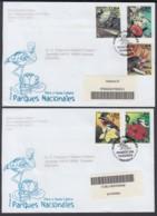 2003-FDC-47 CUBA FDC 2003. REGISTERED COVER TO SPAIN. FLORA Y FAUNA PARQUES NAC. ALMIQUI, POLIMITA SNAIL, - FDC