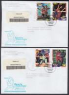 2003-FDC-48 CUBA FDC 2003. REGISTERED COVER TO SPAIN. SANTO DOMINGO PANAMERICAN GAMES DOMINICAN REP. - FDC