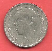 1 Dirham , MAROC , Cupro-Nickel , AH 1384 , 1965 , N° Y # 56 - Maroc