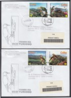 2003-FDC-51 CUBA FDC 2003. REGISTERED COVER TO SPAIN. ECOTURISMO, BIRD, AVES, PAJAROS, BARAOA, TRINIDAD, SIERRA MAESTRA. - FDC
