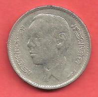 1 Dirham , MAROC , Cupro-Nickel , AH 1388 , 1968 , N° Y # 56 - Maroc