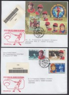 2003-FDC-55 CUBA FDC 2003. REGISTERED COVER TO SPAIN. 35 COPA MUNDIAL DE BEISBOL, BASEBALL WORLD CUP. - FDC