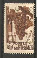 France - Publicity For French Wine Poster Stamp - Commemorative Labels