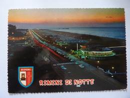 """Cartolina Viaggiata """"RIMINI DI NOTTE"""" 1971 - Rimini"""