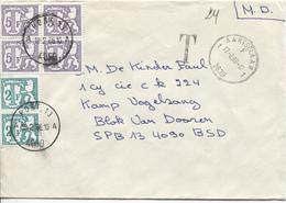 2802/ L.M.D C.Aartselaar 17/2/88 Griffe T 24 Manuel V.Camp De Vogelzang Taxée 24 Frs Par TTx 74(2)-77(4) C.Post 18/2/88 - Marcophilie