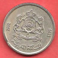 1/2 Dirham , MAROC , Cupro-Nickel , AH 1423 , 2002 , N° Y # 116 - Maroc