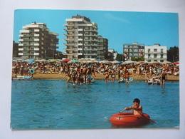 """Cartolina Viaggiata """"RIMINI Alberghi Visti Dal Mare"""" 1971 - Rimini"""