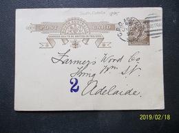South Australia: 1895 Postal Card To Adelaide (#FN11) - 1855-1912 South Australia