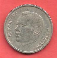 1 Dirham , MAROC , Cupro-Nickel , AH 1423 , 2002 , N° Y # 117 - Maroc