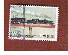 GIAPPONE  (JAPAN) - SG 1374  -   1974 STEAM LOCOMOTIVE: CLASS C57  - USED° - 1926-89 Imperatore Hirohito (Periodo Showa)