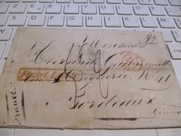 LETTRE  MARQUE POSTALE      ST  JAGO De CUBA  / BORDEAUX      1843 - Marcophilie (Lettres)