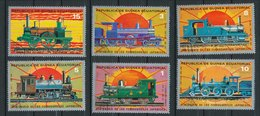 Locomotives - Lot De 6 Timbres - Guinée Equatoriale
