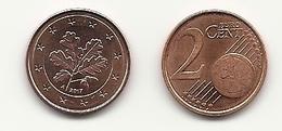 2 Cent, 2017, Prägestätte (A) Vz, Sehr Gut Erhaltene Umlaufmünze - Deutschland