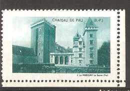 France - Chateau De Pau Tourist Publicity - Tourism (Labels)