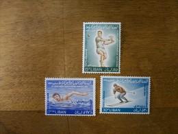 LIBAN Pa N 293 A 295 Neuf Luxe Jeux Mediterraneens 1963 - Liban