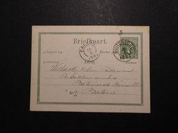 Niederlanderländisch Indien GA Karte 5 C Grün 1886 Von Buitenzong Nach Batavia - Indes Néerlandaises