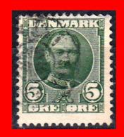 DINAMARCA SELLO DE SERIE AÑO 1907 REY FREDERIK VIII, 1843 - 1912 - 1851-63 (Frederik VII)