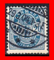 DINAMARCA SELLO AÑO 1884 -1888 NUMERALS - Danimarca