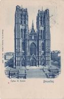 Bleu Blau Blaue CPA AK Bruxelles Brüssel Eglise St Sainte Gudule Rue Place Marquis Bois Sauvage Belgien Belgique - Brussel (Stad)