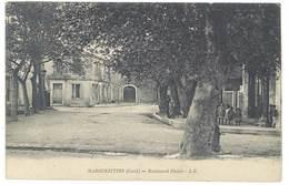 Cpa Marguerites - Boulevard Plaisir ( Tampon Hôpital Temporaire ) - France