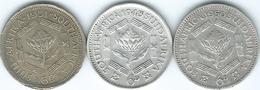 South Africa - George VI -  6 Pence - 1943 (KM27) 1950 (KM36.1) 1951 (KM36.2) - Afrique Du Sud
