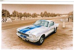 Ford Mustang  GT 350  -  Tableau De Francois Bruère  -  Art Card  -  CPM - PKW
