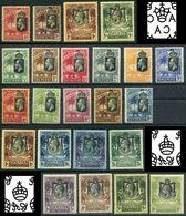 1922-27 Gambia King George. Two Full Sets. Sg 118-142, Sc 102-124 MNHOG! Rare! - 1902-1951 (Kings)