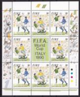 Irland, 1990, 712/13 Kleinbogen, Fußball-Weltmeisterschaft 1990, Italien. MNH ** - 1949-... Republik Irland