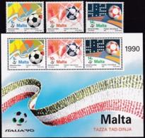 Malta, 1990, 843/45, Fußball-Weltmeisterschaft 1990, Italien. MNH ** - Malta