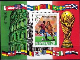 Ungarn, 1990, 4093 Block 210 A, Fußball-Weltmeisterschaft 1990, Italien. MNH ** - Ungebraucht