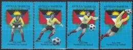 Antigua Und Barbuda, 1989, 1252/55, Fußball-Weltmeisterschaft 1990, Italien. MNH ** - Antigua And Barbuda (1981-...)