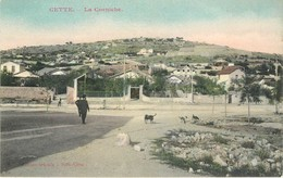 5 CPA 34 Hérault Sete Cette La Corniche Port De Laneau Plage Vue Générale à Vol D'Oiseau - Sete (Cette)