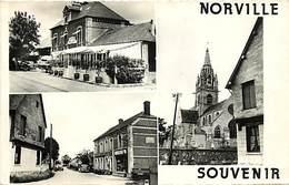 Dpts Div.-ref-AG82- Seine Maritime - Norville - Souvenir De .. - Multi Vues Dont Rue Et Café Restaurant Olin - - France